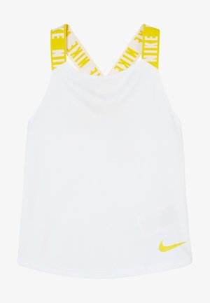 DRY TANK ELASTIKA - Sportshirt - white/speed yellow