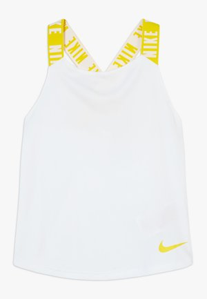 DRY TANK ELASTIKA - T-shirt de sport - white/speed yellow