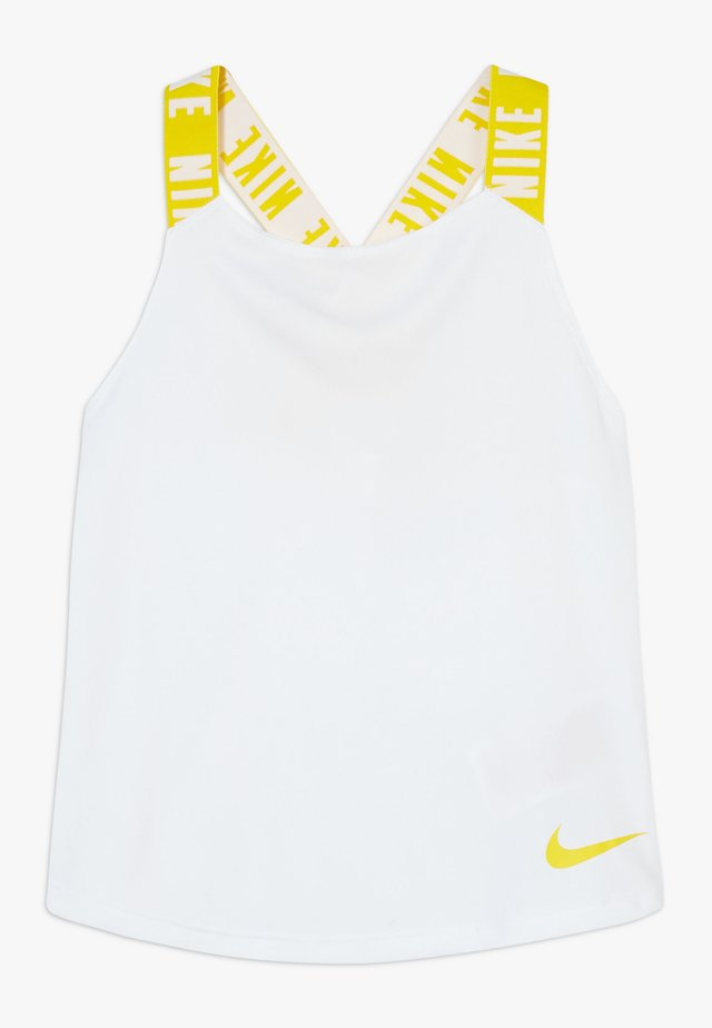 DRY TANK ELASTIKA - Sports shirt - white/speed yellow