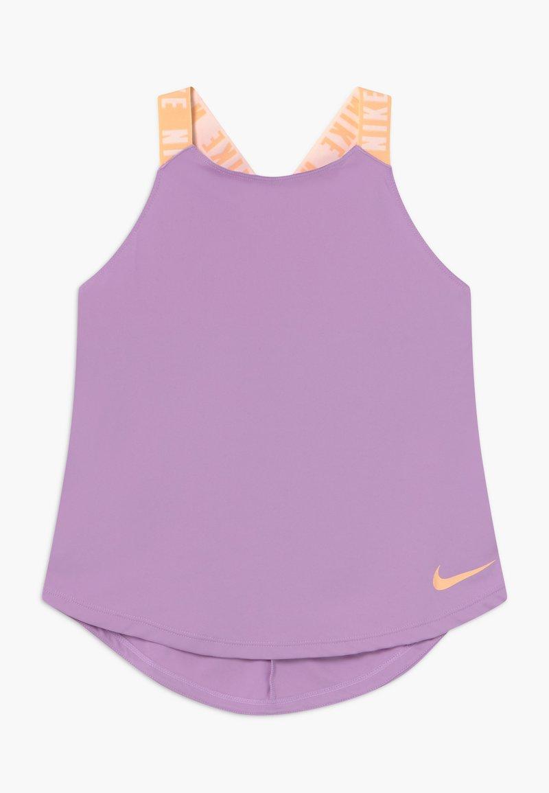 Nike Performance - DRY TANK ELASTIKA - Camiseta de deporte - violet star/orange chalk
