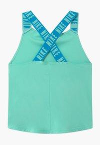 Nike Performance - DRY TANK ELASTIKA - Sports shirt - emerald rise/laser blue - 1