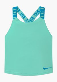 Nike Performance - DRY TANK ELASTIKA - Sports shirt - emerald rise/laser blue - 0