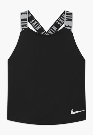 DRY TANK ELASTIKA - Sports shirt - black/white