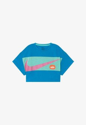 T-shirt print - laser blue/emerald rise/magic flamingo