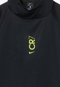Nike Performance - CR7 DRY MIDLAYER - Sweat à capuche - black/lemon - 4