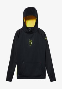 Nike Performance - CR7 DRY MIDLAYER - Sweat à capuche - black/lemon - 3