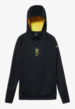 CR7 DRY MIDLAYER - Hoodie - black/lemon
