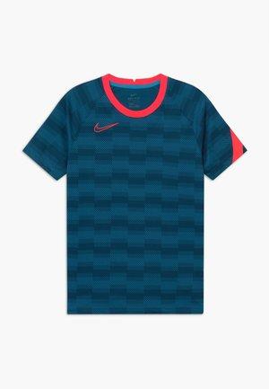 DRY - T-shirt print - laser blue/laser crimson