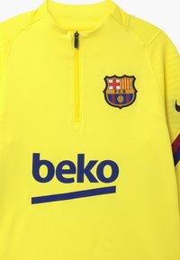 Nike Performance - FC BARCELONA DRY STRIKE DRILL - Equipación de clubes - sonic yellow/dark obsidian - 3