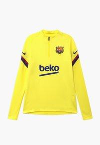 Nike Performance - FC BARCELONA DRY STRIKE DRILL - Equipación de clubes - sonic yellow/dark obsidian - 0