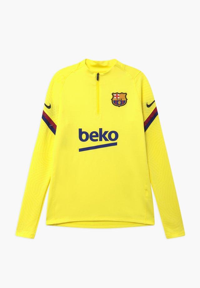 FC BARCELONA DRY STRIKE DRILL - Equipación de clubes - sonic yellow/dark obsidian