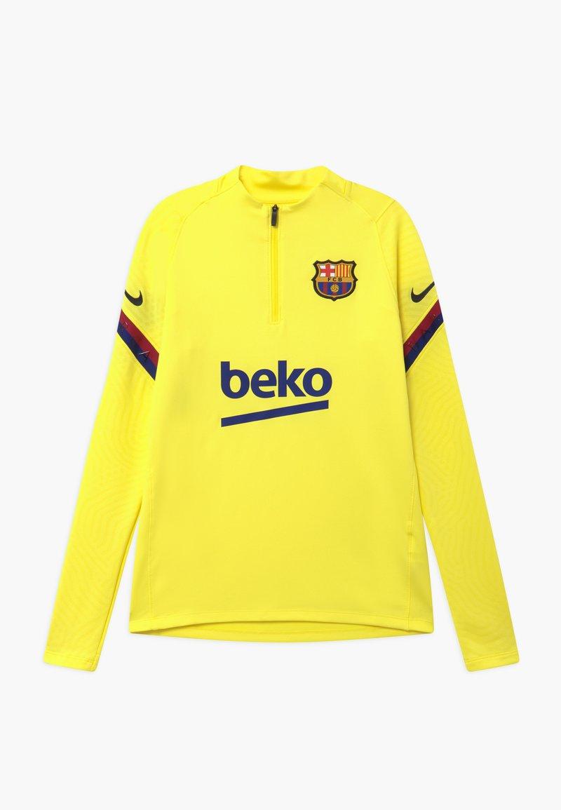 Nike Performance - FC BARCELONA DRY STRIKE DRILL - Equipación de clubes - sonic yellow/dark obsidian