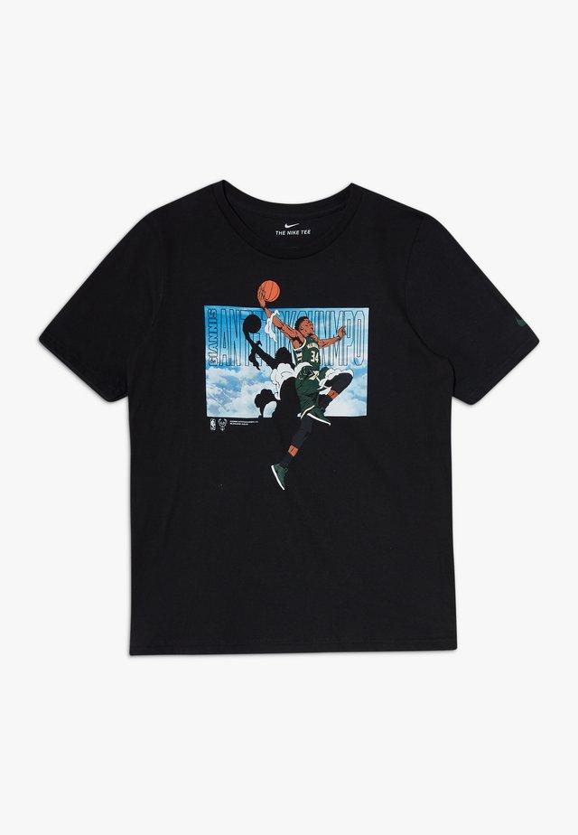 NBA GIANNIS ANTETOKOUNMPO ELEVATION TEE - Camiseta estampada - black