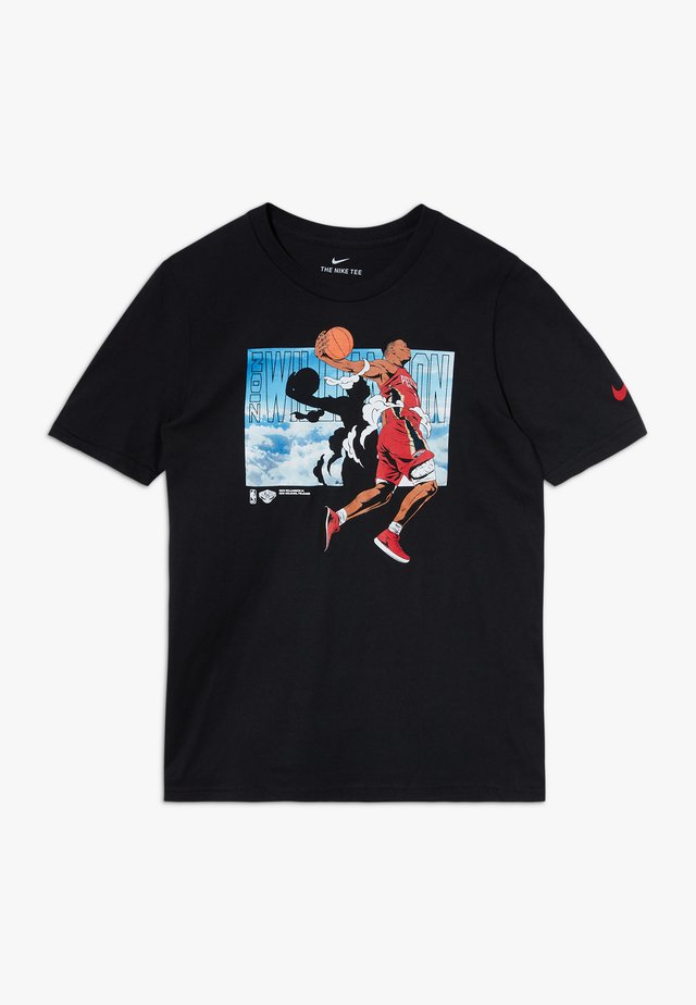 NBA ZION WILLAMSON ELEVATION TEE - Camiseta estampada - black