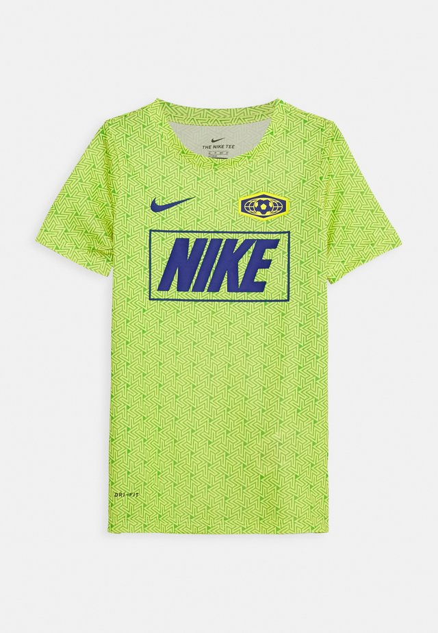 DRY TEE SOCCER - T-Shirt print - opti yellow/green spark