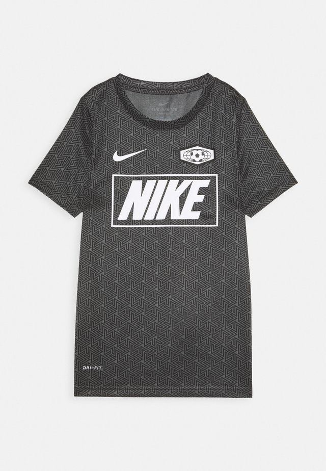 DRY TEE SOCCER - T-Shirt print - iron grey/black