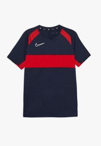 Nike Performance - DRY ACADEMY  - T-shirt sportiva - obsidian/university red/white - 0
