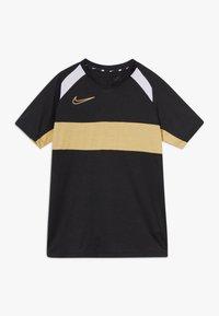 Nike Performance - DRY ACADEMY  - T-shirt sportiva - black/white/gold - 0