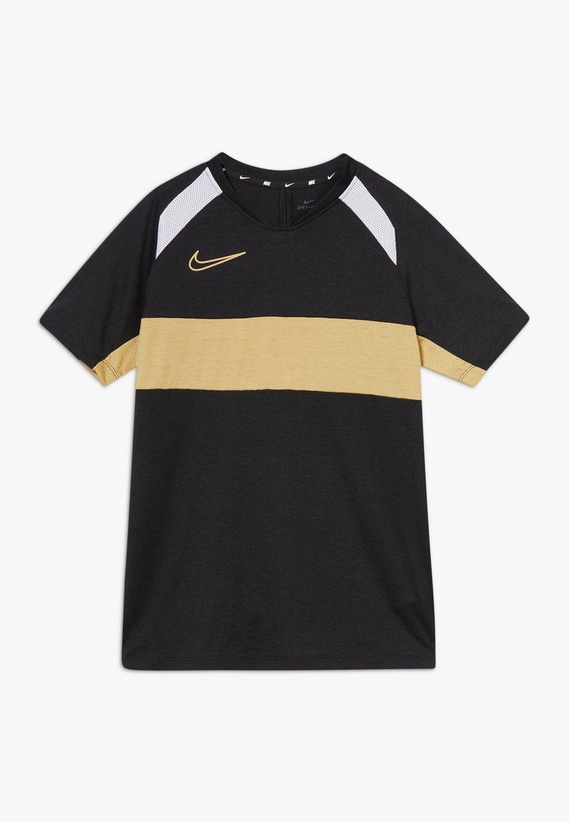 Nike Performance - DRY ACADEMY  - T-shirt sportiva - black/white/gold