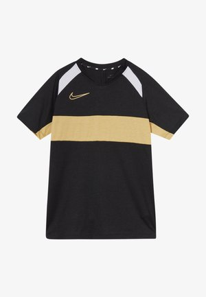 DRY ACADEMY  - T-shirt de sport - black/white/gold