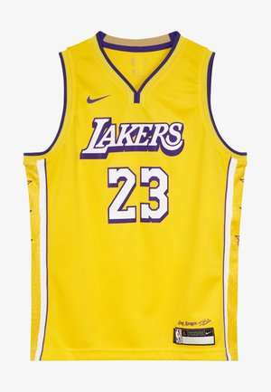 NBA LOS ANGELES LAKERS JAMES LEBRON BOYS CITY EDITION SWINGMAN  - Klubové oblečení - amarillo