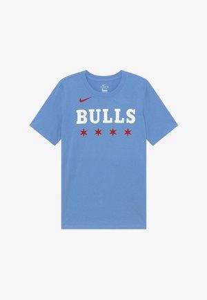 NBA CHICAGO BULLS CITY EDITION LOGO TEE - T-shirt con stampa - valor blue