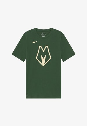 NBA MILWAUKEE BUCKS CITY EDITION LOGO TEE - Pelipaita - flat opal