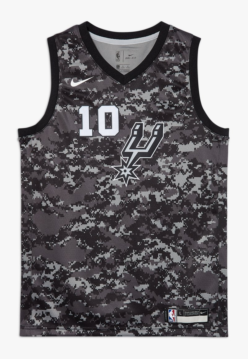 Nike Performance - NBA DEROZAN DEMAR SAN ANTONIO SPURS CITY EDITION SWINGMAN  - Klubové oblečení - black