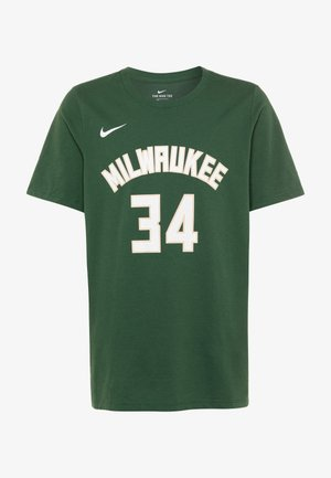 NBA MILWAUKEE BUCKS GIANNIS ANTETOKOUNMPO NAME & NUMBER TEE - Club wear - green