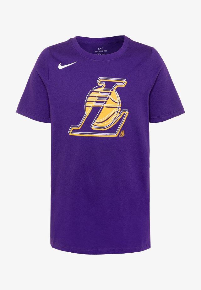 NBA LA LAKERS LOGO TEE - T-shirt print - court purple