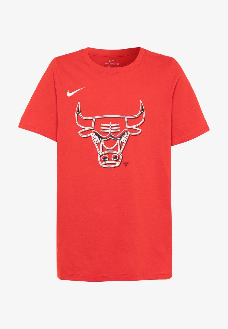 Nike Performance - NBA CHICAGO BULLS LOGO TEE - Triko spotiskem - university red