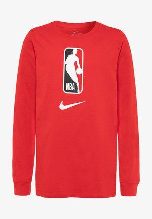NBA LOGO MAN LONG SLEEVE - T-shirt à manches longues - red