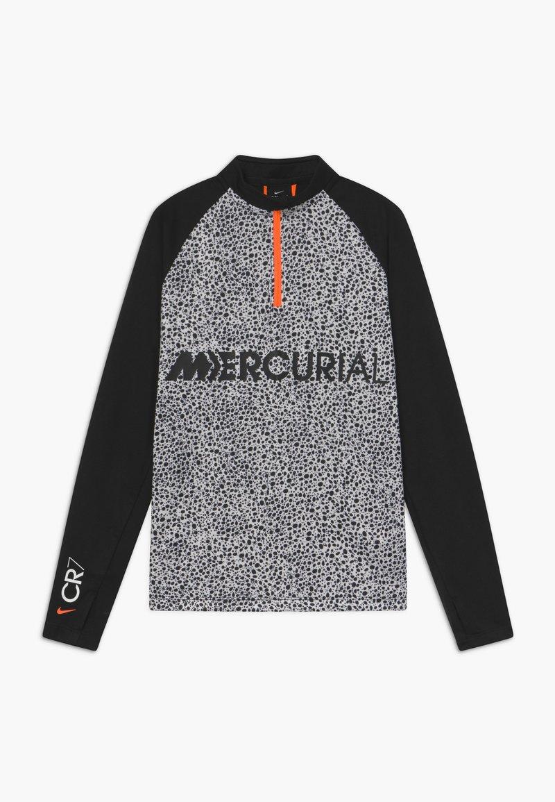 Nike Performance - CR7 DRY DRIL - Fleecová mikina - black/white