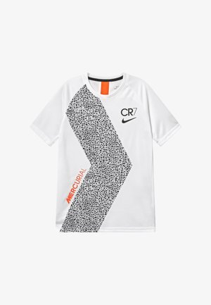 CR7  - T-shirt print - white/black
