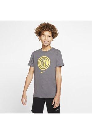 INTER MILAN OLDER KIDS' FOOTBALL T-SHIRT - Article de supporter - dark grey/tour yellow