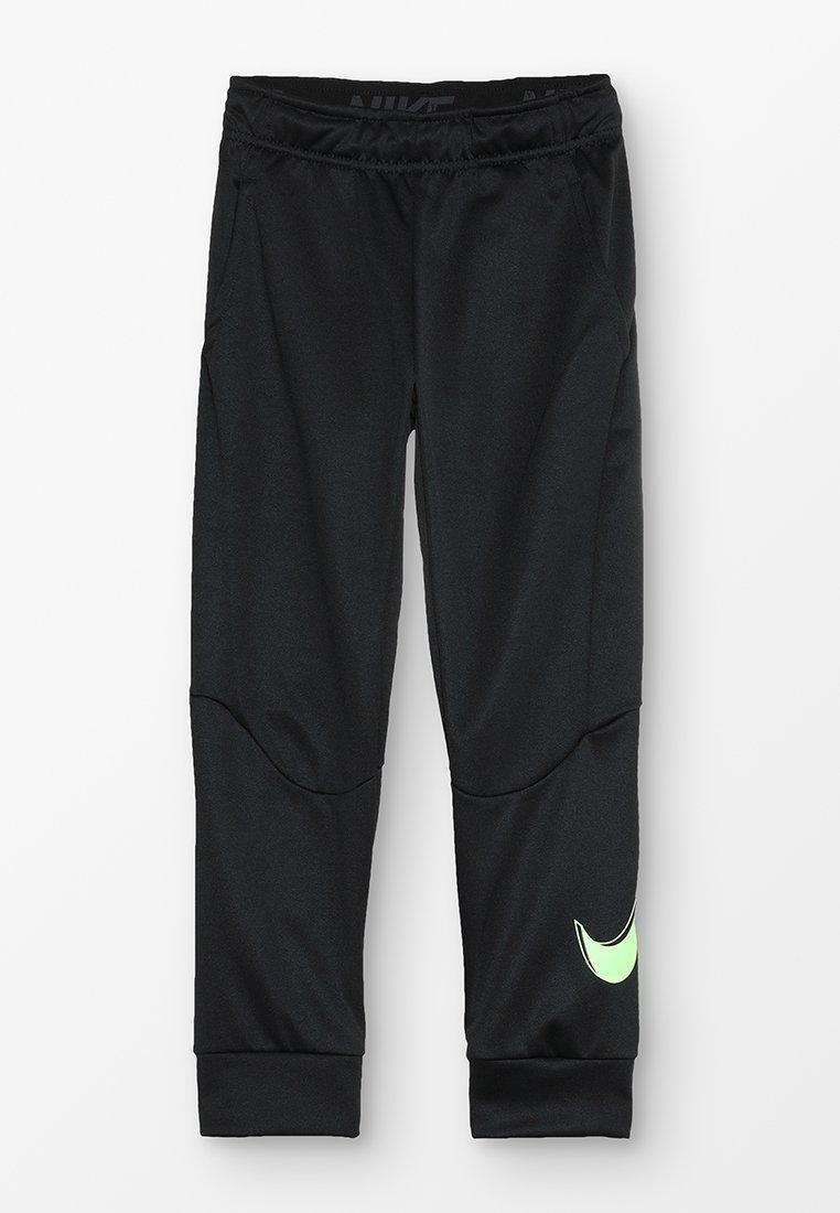 Nike Performance - THERMA PANT - Trainingsbroek - black/lime blast