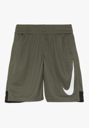 DRY SHORT - Sports shorts - medium olive/black/white