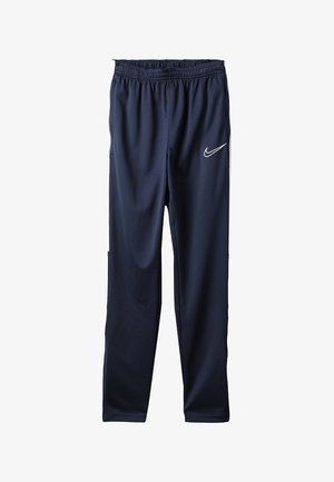 DRY ACADEMY PANT - Tracksuit bottoms - obsidian/white