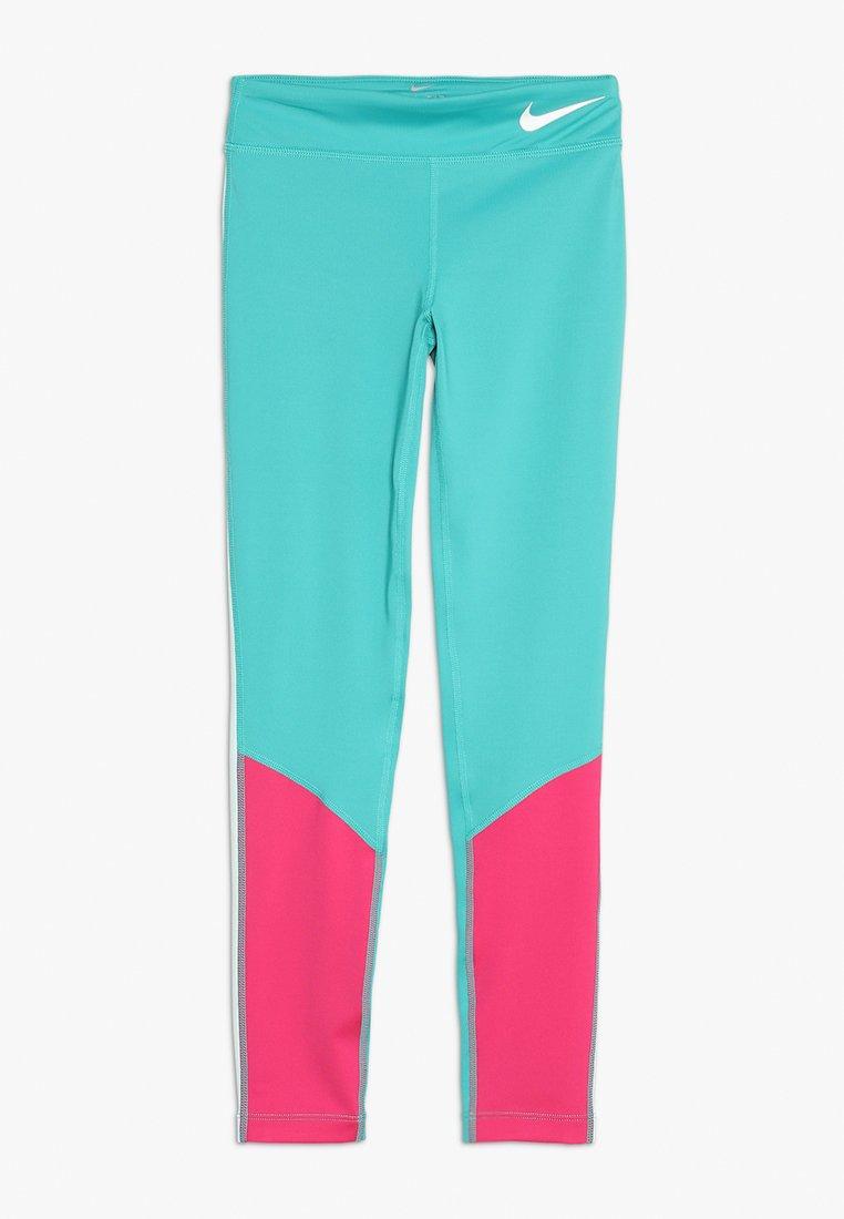 Nike Performance - TROPHY COLORBLOCK - Leggings - cabana/vivid pink/teal tint