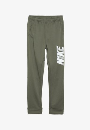 DRY PANT - Trainingsbroek - medium olive/white