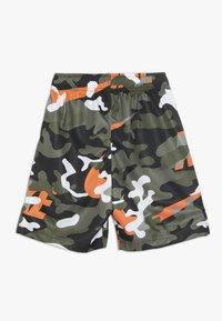 Nike Performance - DRY CAMO SHORT - Short de sport - medium olive/total orange/legion green/anthracite - 1