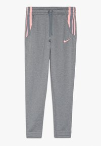 Nike Performance - STUDIO PANT - Tracksuit bottoms - carbon heather/bleached coral - 0