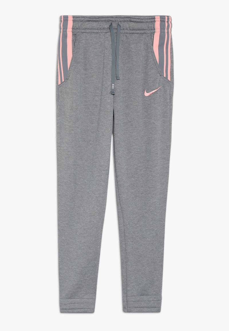 Nike Performance - STUDIO PANT - Tracksuit bottoms - carbon heather/bleached coral