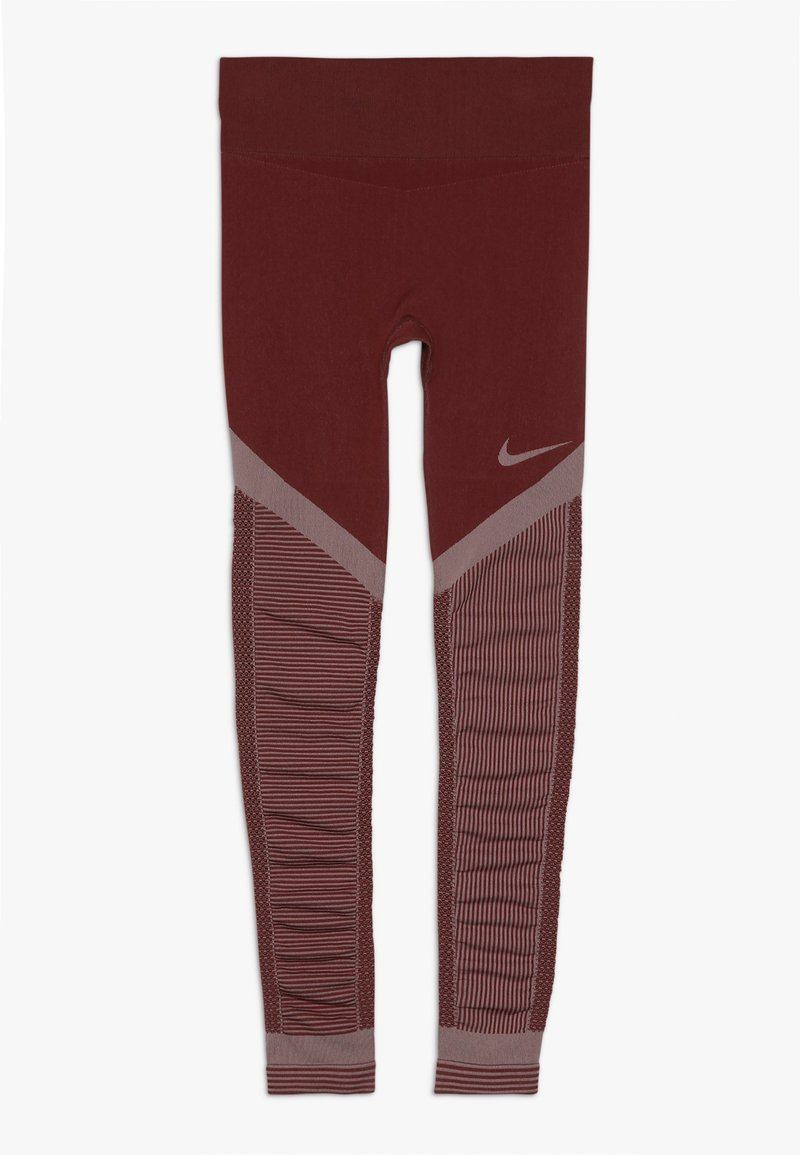Nike Performance - FENOM SEAMLESS - Leggings - cedar/echo pink