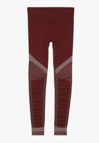 Nike Performance - FENOM SEAMLESS - Leggings - cedar/echo pink - 1