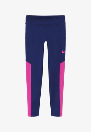 TROPHY - Legginsy - blue void/fire pink