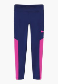 Nike Performance - TROPHY - Leggings - blue void/fire pink - 0