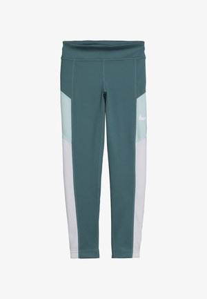 TROPHY - Collants - mineral teal/white/teal tint