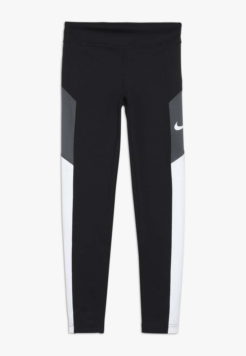 Nike Performance - TROPHY - Legging - black/white/dark grey