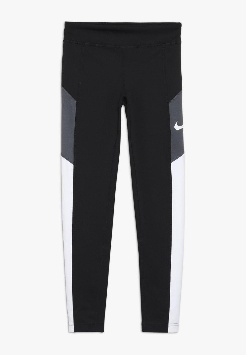 Nike Performance - TROPHY - Tights - black/white/dark grey
